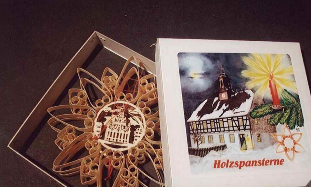 Holzspansterne von Berthold Müller in Großrückerswalde mit verschiedenen Motiven