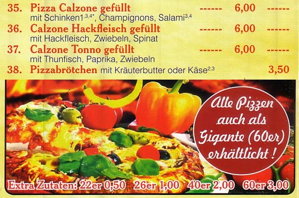 Pizza bei Pizza Mara in Schlangen