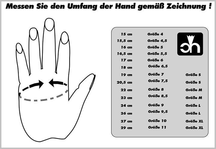 Die richtige Handschuhgröße