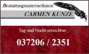 CARMEN KUNZE - Bestattungsunternehmen