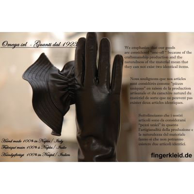 Omega srl by fingerkleid.de Handmade from the ''World Capital of the glove'' Naples, Italy Fingerkleid.de & Hemmo Schuhe und Lederwaren Weisswasser