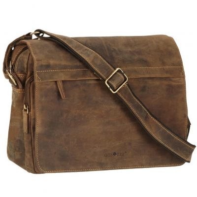 1766 25 1 Greenburry Umhaengetasche Messenger Bag Vintage Leder braun Hemmo Lederwaren Mode fashion sichtbar Weisswasser