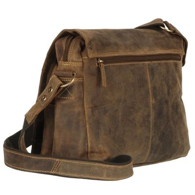 1766 25 2 Greenburry Umhaengetasche Messenger Bag Vintage Leder braun Hemmo Lederwaren Mode fashion sichtbar Weisswasser