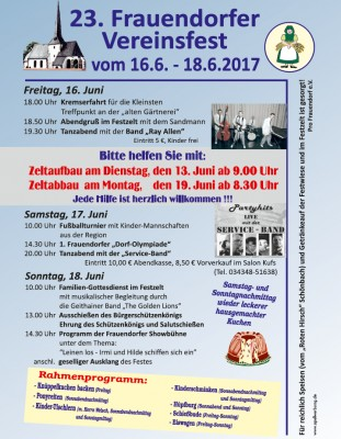 Dorffest in Frauendorf!