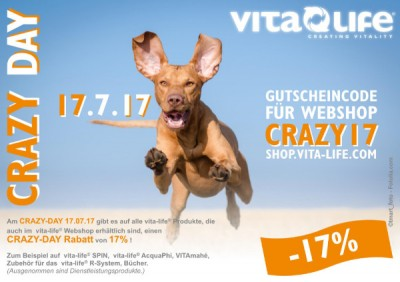 17% CRAZY-DAY-RABATT am 17.7.17 im vita-life® Webshop