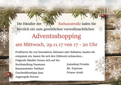 Adventsshopping am 29.11.2017