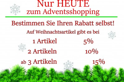 Adventsshopping in Uhrer Geschenkboutique in Rochlitz