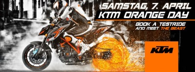Erinnerung: KTM Orange Day am 7.4.2018