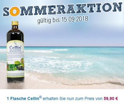 Cellin® - Sommerangebot 2018