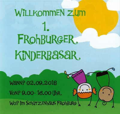 1. Frohburger Kinderbasar am 01.09.2018