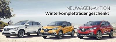 Gratis Winterräder – auf fast alle Renault-Neuwagen
