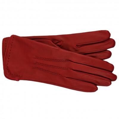 Elegante Lederhandschuhe von Omega srl (Neapel) in edlem rot
