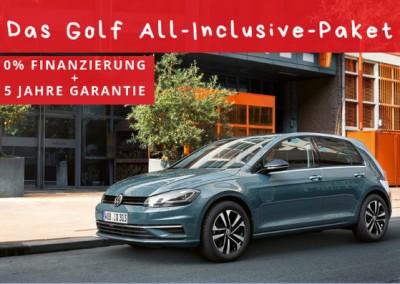 Das Golf All-Inclusive-Paket mit 0% Finanzierung