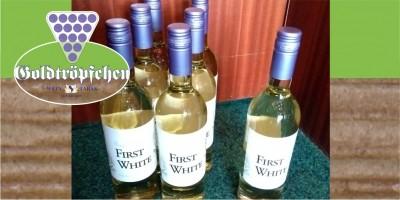 FIRST WHITE 2019 der erste Wein des neuen Jahrgangs