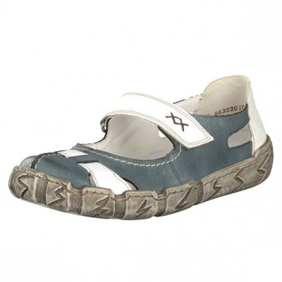 Rieker Damen Slipper blau L0387-12 im Midsommer SALE