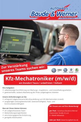 Stellenangebot Kfz-Mechatroniker (m/w/d)