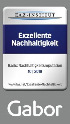 GABOR FÜR 'EXZELLENTE NACHHALTIGKEIT' AUSGEZEICHNET