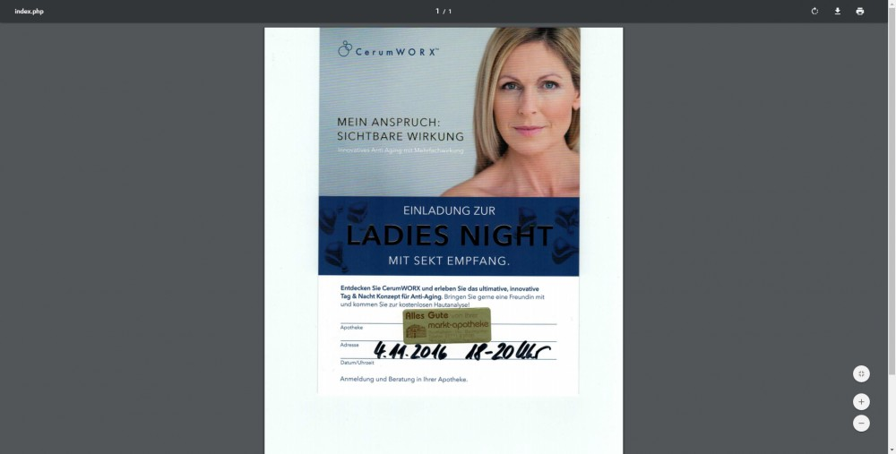 Blog Markt-Apotheke Aue Ladies Night